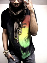 Kadeem Johnson - Anf Scarf, Buffalo Exchange Bob Marley Shirt - One Love...