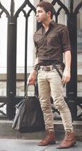 Ivan Paris - Cesare Paccioti Brown Vintage Laceup, Dkny Brown Military, China 3xloop Leather, Diesel 3cm Perforated Leather, Balenciaga Slimwrinkle Trousers | Fall O7, H&M 1.5cm Classic Suspenders, Gucci Largo Hobo - Außerhalb der Kirche Deutsch