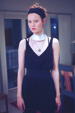 Arvida Byström - Homemade Necklace, H&M Necklace, H&M Skirt, Homemade Shirt, American Apparel Top - ETNO/BLACK/DON'TKNOW