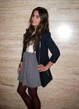 Laura Perez - Vintage Blue Blazer, Vintage Handbag, Zara Skirt - Hey hey you you