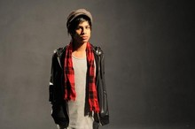 Sid Curtis - Sc Inc. Plaid Scarf, Hat, American Apparel Plastic Leather Jacket, Idk Muscle Shirt - Mommy At The Shoot