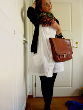 Hannah Kaup - Vintage Briefcase, Indiska Dress, Market In Spain Scarf, Zara Cardigan - Your heart is an empty room