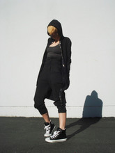 Biz C - Josh Goot Hoodie/Dress, C&C California Organic Cotton Tank Top, H&M High Waist Sweatpants, Converse Padded Collar Chucks - Sleepless
