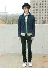 X O - Diesel Denim Jacket, Diesel Thanaz, Uo Oxfords, Diesel Bowler, Vintage Ascot - RAINY DAYS & SUNDAYS