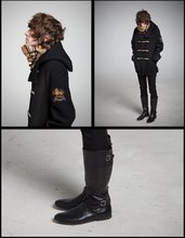 X O - Rugby Duffel Coat, Burberry Scarf, Diesel Gloovy, B Store Riding Boots - SEA LEGS