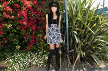 Nida Elizabeth - Nasty Gal Rosey Tank Dress - Flowers for spring.