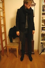 David ****** - Zara Shoes, H&M Scarf, Cos Jacket, Cos Pullover, Cos T, Dior Homme Waxed Jeans, Dior Homme Long Vest - Back to Past