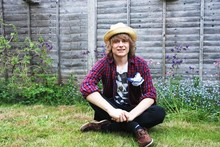 Otto S. - My Garden, Uniqlo Trilby Hat, Uniqlo Flannel Shirt, All Saints Printed Tee, Topman Boat Shoes - Skinny Love
