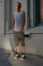 Hap R - Jan & Carlos Sleeveless T, Ksubi Pyramind Jeans, Converse Padded Collar Chuck - Yes