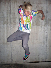 Ragnar Orav - Pa:Nuu Colourful T Shirt, Dr.Denim Jeansmakers Slim Pants - COLOURED ROUGH
