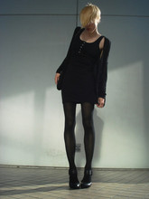 Biz C - Wilfred Silk & Linen Cardigan, H&M Henley Dress, Dkny Tights, Ash Footwear Shoes - From work