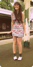 Jade Perry - Camden Market Dress, Dads Socks, Primark Shoes, Camden Market Pink Clear Glasses - Happy days... <3