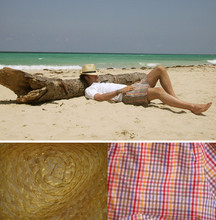 Alberto Monfil - Lacoste White Polo, Gant Checked Swimsuit, Panama Hat - Lights Out