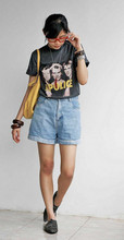 Rainbow Soul - The Police Tee, Red Necklace, Shorts, Suede Pointing Shoes, Yellow Big Bag., Wooden Bangles - Call the police..