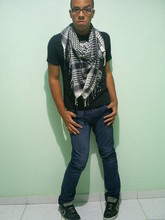 Lucas Braga - Converse All Star, Scarf, Clock House Black T Shirt - Everyone wants something on Saturday night.