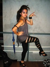 Sasha L. - Ripped Em Leggings, Marie Claire Those Heels, Vincci Accessories Chunky - Feline-Ferocious