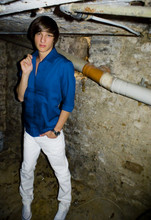 Frederick M. - H&M Blue Shirt, H&M White Skinny Pants - Let me bring the ambiance.