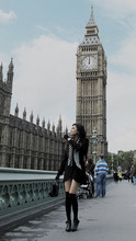 ILI DIYANA - Topshop Studded Double Breasted Coat, H&M Zig Zag Scarf, Longchamp PlanèTes Handbag, H&M Ankle Booties - Big, Big Ben