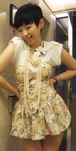 Terrysa Chen - Chole Chen Shirt, Mango Pearl Necklace, ??? Remade Floral Corset Top - Make me happy ♥