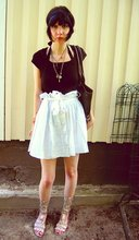 Susa P - Asos Bag, H&M Black T Shirt, A Gift From Friend Skirt, Bullboxer Gladiator Shoes, Headband, Necklace - Indiana screams