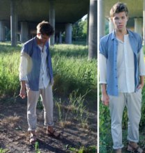 Andreas Wijk - Weekday Shirt, Weekday Shirt, H&M Chinos, Vintage Sandals - Just like that.