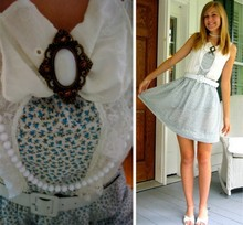 Allie B. - No Regrets Dress, Thrift Belt, Naturalizer Heels, Claires Beads - I know where you go to