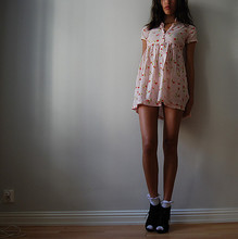 Signe S - Dress From When I Was A Little Girl, H&M Socks H&M's Children Department, Shoes Din Sko - ROSA DUMALIS