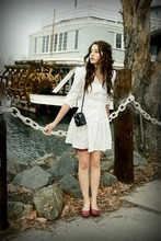 Katelyn Rose Caster - Thrift White Bow Collard Sailor Dress - Fairytales, make-believe and you.