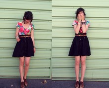 Séverine C - H&M Skirt, Kenzo All In One, Vintage Shoes - Just like, hum, girly.