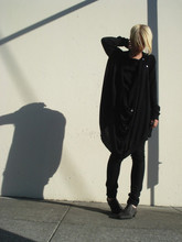 Biz C - H&M Cotton T, Sisley Drapey Cardigan, April 77 Joey, Vialis Zip Up Shoes - Station