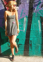 Elle Karlsson - American Apparel Dress, Jc Necklace, Ur&Penn Sunglasses, Mq Gladiator Sandals - Surprise Ice