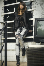 Fashionleaka D. - Denis Gagnon Leather, H&M Lace Top, Urban Outfitters Diy Ripped, Aldo Spana - Romantik Rock