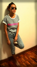 Jen Hsu - Ut Loose Shirt, Platinum, Bangkok Acid Wash Jeans - I trust his style.