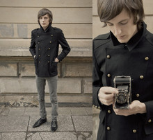 B Sattler - Phix Clothing Military Jacket, Cheap Monday Skinny Jeans, Scarface England 60's Dancing Shoes - Maybe...London?