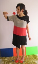 Gracie Moi - Gripz Flats, 4fore Color Block Dress - Color block kiss