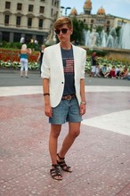 Alexandre Martinez - H&M Blazer, Ralph Lauren T Shirt, Topman Belt - White Blazer and Shorts