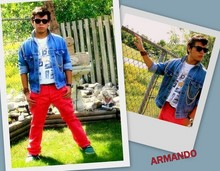 Armando Cruz - Ray Ban Sunglasses, Talize Custom Made Denim Jacket, Divided Pants - FEELS LIKE IM NOT FROM AROUND HERE...