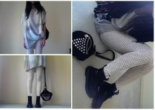 Wends Ma - Ksubi Tsubi Dove Silk Tee, Self Made Leggings, Suede Fringed Jacket, Studded Bag Ebay, Dr. Martens Doc - Deceptacon