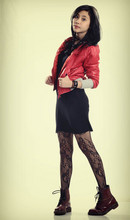 Rainbow Soul - Red Parachute Jacket., Lbd, Lacey Tights, Dr. Martens Doc - :)