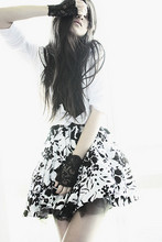 Jysla Kay - Forever New Lace Fingerless Gloves, Op Shop Black And White Skirt W/Tulle - Lace and love