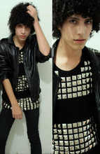 Hector Jimenez - Vintage Leather, Zara Who Cares?, Victimo By Carlos Arce Tshirt - Mom I m a rebel lookbook deleted my look