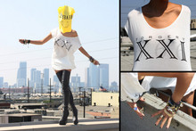 Christine L. - Unif Forgery Xxi Shirt, From Around The World Accessories, Ebay Thigh Highs Tailored To Me - F O R G E R Y  XXI