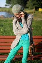 Marili K - 2nd Hand Bag, Terranova Mint Jeans, Gina Tricot Cardigan - Calling to say HI