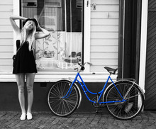 DORIS . - H&M ,, Accent ,, H&M ,, Keds, Advertise My Blue Bike - With or without you