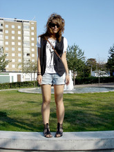 Ellinor Andersson - 5 Preview Paris, Worn Shorts, Ellos Gladiator Sandals - Last days of summer