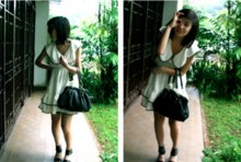 Kimber Bimble - Anna Sui Dress, Charles And Keith Shoes?, Nett Handbag - I start school today