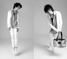 DIEGO DOM - Zara Cardigan, H&M Shirt, Diesel Skinny J, Ea Bag, Zara Shoes - Draw on