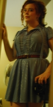 Emmy N - Vintage Dress, Vintage Leather Braided Belt - Patsy cline would have been 77 today.