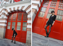 LINDA HAO LIYUAN - H&M Military 3/4 Sleeve Outer, Asymmetric Frilly Dress, Us Lace Stocking, Charles & Keith Patent Ankle Boots, Charles & Keith Suede And Zips Bag - Welcome to the fire station