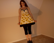 "Bailey R - Target New Black Heels!!, Forever 21 Babydoll Top, Black Leggins - ""poppies will put them to sleep"""